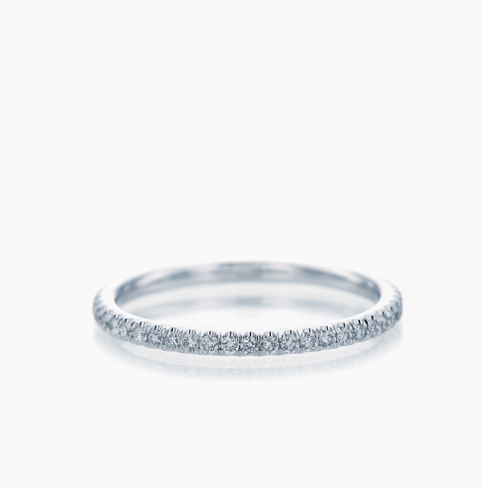 U CUT PAVE ETERNITY RING